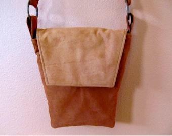 Rebecca #02  Ultra Suede Purse, Small Purse, Diagonally Shaped Purse, Cross Body Purse, Cross Body Bag, Purse, Purses, Bags, Shoulder Bag