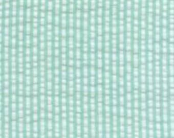 Aqua and White Palm Pin Stripe Seersucker, Robert Kaufman Seersucker Collection Collection, 1 Yard