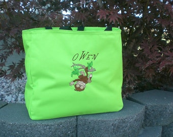 Personalized Day Care Bag, Monogram Tote Bag, Beach Bag Birthday Gift