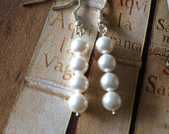 Swarovski pearl earrings Sterling silver