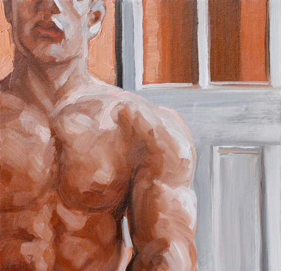 Before the Door, oil on canvas panel 12x12 inches by Kenney Mencher