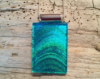 Dichroic glass jewelry, Dichroic glass, Dichroic Glass Pendant, Fused Glass Jewelry, handmade dichroic glass, glass pendant, glass