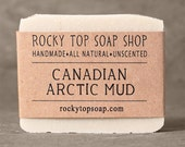 Canadian Arctic  Mud Soap - Sensitive Skin Soap, Facial Soap, Clay Soap, Vegan Soap