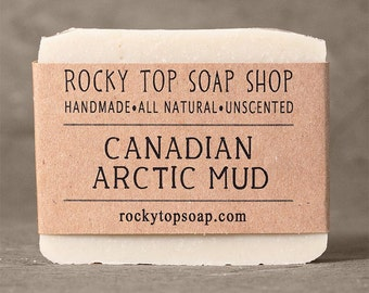 Canadian Arctic  Mud Soap - Sensitive Skin Soap, Facial Soap, Clay Soap, Vegan Soap