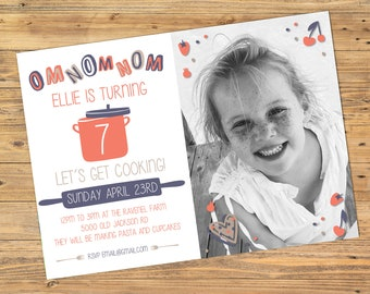 Printable or Emailable Girls Cooking Chef Birthday Party Invitation