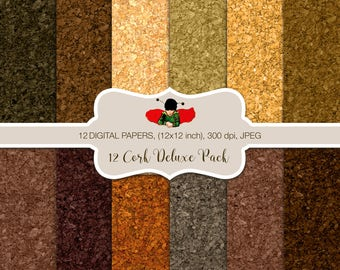 Cork Deluxe Pack Digital Papers for personal and commercial use - Cork Board Colors