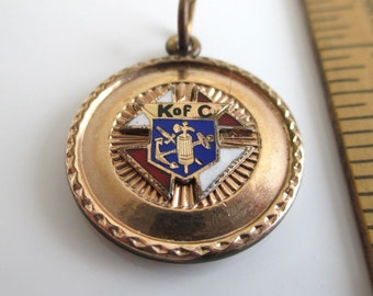 K of C, Knights of Columbus Watch Fob, Key Fob, or Pendant - Vintage, Antique