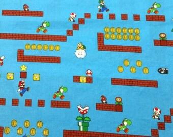 Pillow Case Nintendo Mario Game Scenes