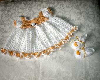 Newborn to 3 Months Dress Set