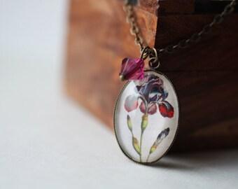 FREE WORLDWIDE SHIPPING - Purple Iris Necklace