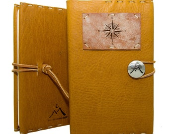 Medium Journal with Compass in Honey Ginger: Homecrafted in Aspen