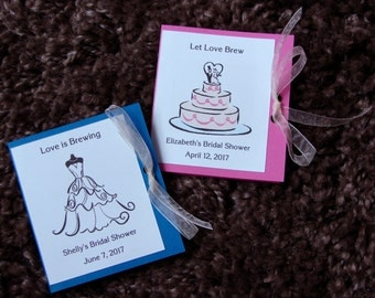 Customized Bridal Shower Tea Bag Packet Favors