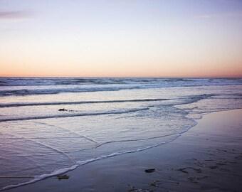 "Sunset Photograph, Beach Photography, Ocean Landscape, Sun Setting, Seascape, Sunset Art, Beach Wall Art, Dreamy Beach Decor ""Sun Goes Down"""