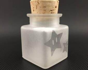 Star Window Glass Jar // Airtight Cork Jar
