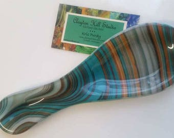 Fused Glass Spoon Rest - Southwest XX