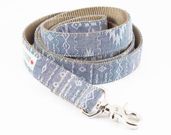 Navajo Chambray Dog Leash
