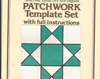 """The Quiltery Patchwork Template Set """"Ohio Star"""""""
