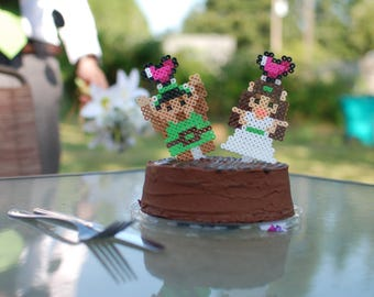 Custom 8-Bit Sprite Wedding Cake Topper