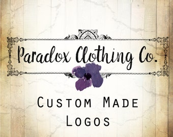 LOGO in PARADOX•Premade Logo•Jewelry Card Logo•Watercolor Logo•Custom Logo•Shop Logo