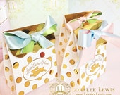 Gold Bunny Favor Boxes by Loralee Lewis