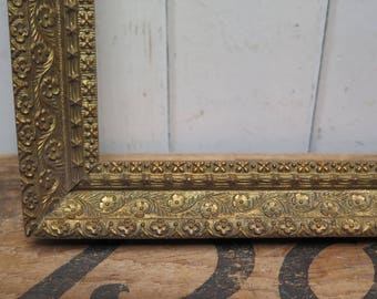 Ornate Antique Gesso 10 x 12 Open  Picture Frame
