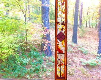 NEW Glittering stained glass panel art glass gift window treatment stained glass window