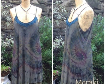 Woodland Pixie Summer Dress, Tie Dye Dress
