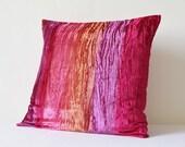 Shaded Pink Crushed Velvet Pillow , Hot Pink Velvet Cushion Cover , Decor Pillow , Fuchsia Velvet Throw Pillow , Housewares , Velvet Cushion