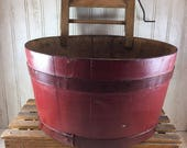 Vintage Childs Wooden Play Wash Tub, Wringer and Folding Bench