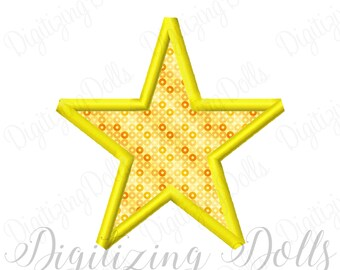 Star Applique 3 Machine Embroidery Design Digital File 2x2 3x3 4x4 5x5 6x6 INSTANT DOWNLOAD