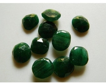 ON SALE 55% Green Aventurine Natural Cabochon Rose Cut Gemstones Stone Faceted 5 Pieces 16mm To 19mm Each