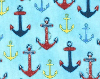 Down by the Sea Anchors on  Blue