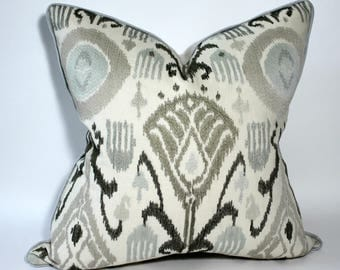 "Schumacher's Turkestan Embroidery Pillow Covers 20"" square"