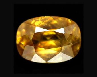SPHENE TITANITE (33269) * * *  10 x 7mm Sphene Titanite w/ Rainbow Flash - Faceted