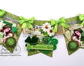 St Patrick's Day Banner Holiday Home Decor Ready to Assemble Kit Polly's Paper Studio