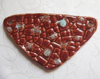 Blazing Skies Pottery Pendant or Link