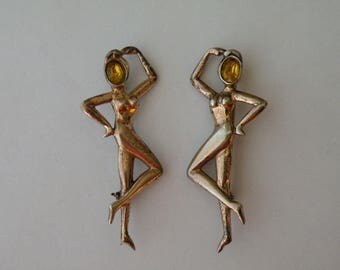 Norma Sterling Silver Figural Dancers Pins Brooches