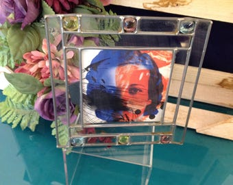 Leaded Glass Small Picture Frame