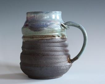 LARGE Coffee Mug, 21 oz, unique coffee mug, handmade cup, handthrown mug, stoneware mug, wheel thrown pottery mug, ceramics and pottery