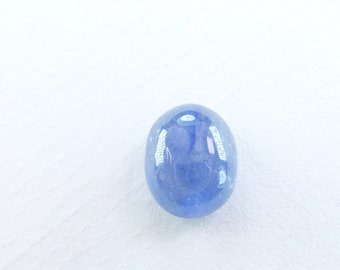 Oval SAPPHIRE Medium Blue. Oval. Smooth and Glossy Cabochon. Great Ringstone. 1 pc. 5.31 cts. 8x10 mm (S3006)