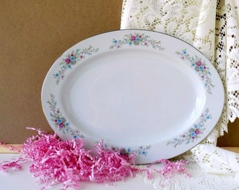 Tea Party Serving Platter. Vintage Wedding Table Plate. Floral Tableware. Fantasia Florenteen. Fine China Made in Japan. Replacement China.