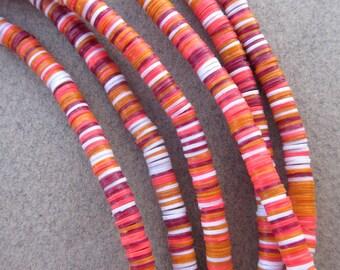 African Vinyl Beads - 3 Strands