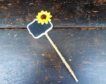 Sunflower Chalkboard Table Numbers, Photo Booth Props, Rustic Wedding Decorations