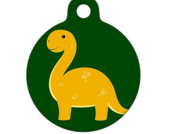 Pet ID Tag - Brontosaurus Pet Tag, Dog Tag, Cat Tag, Luggage Tag, Child Id Tag