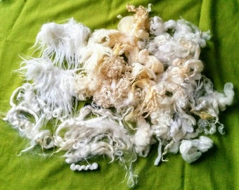 4 oz. Lot of Natural Wool Mixed Doll Hair