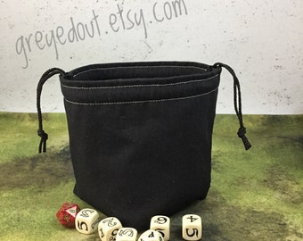 Night Black Dice Bag