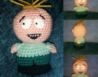 crochet doll butters south park geek retro vegan amigurumi handmade  gift