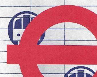 Vintage 1980's The London Underground Diagram of lines brochure