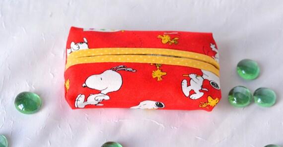 Party Bag Filler, Pocket Tissue Holder, Peanuts Tissue Holder, Handmade Card Case, Travel Tissue Case, Yankee Swap, Birthday Party Favor