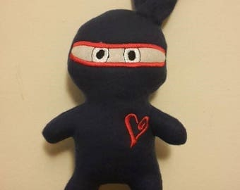 Ninja stuffie, small, Birthday gift, party bags, just to make you smile, UK